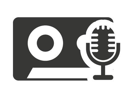 audio icon: cassette retro with audio icon vector illustration design