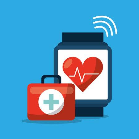 medical technology: technology application medical icon vector illustration design