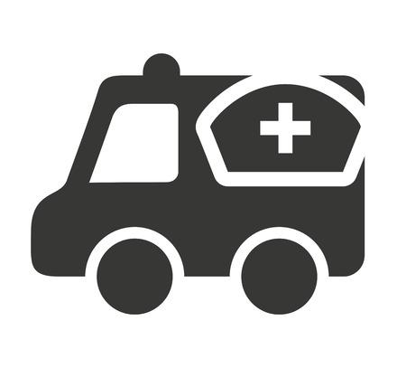 medical illustration: ambulance with medical icon vector illustration design