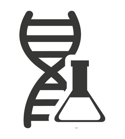 a solution tube: dna molecule with tube test vector illustration design Illustration