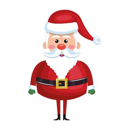 santa claus cartoon with red hat. christmas symbol. vector illustration