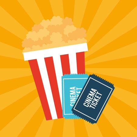 cinema entertainment flat icon vector illustration design Vektoros illusztráció