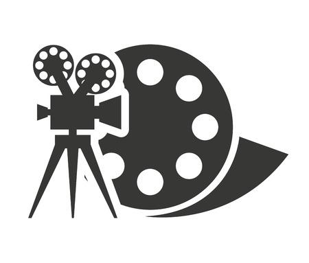 映画アイコン ベクトル イラスト デザイン付けリールテープ
