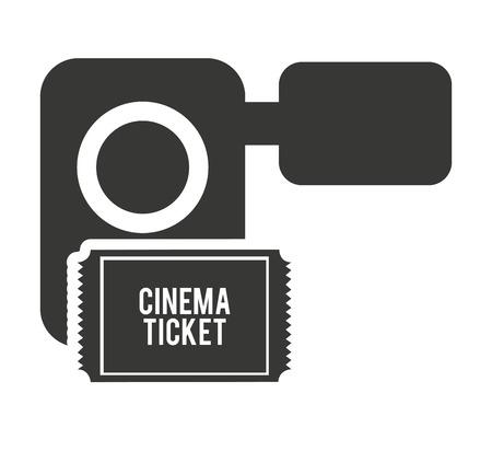 handycam: handy cam with cinema icon vector illustration design