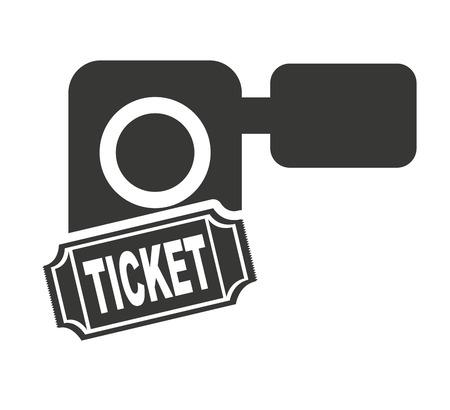 handy cam: handy cam with cinema icon vector illustration design