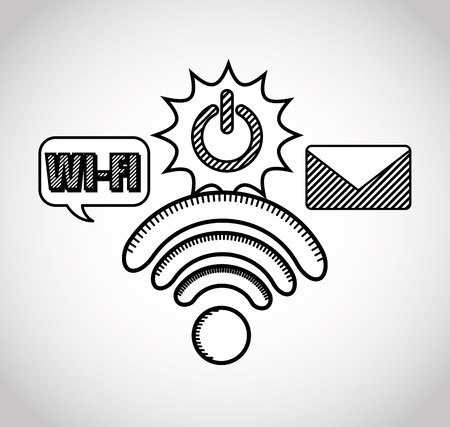 wifi connection signal icons vector illustration design Illustration