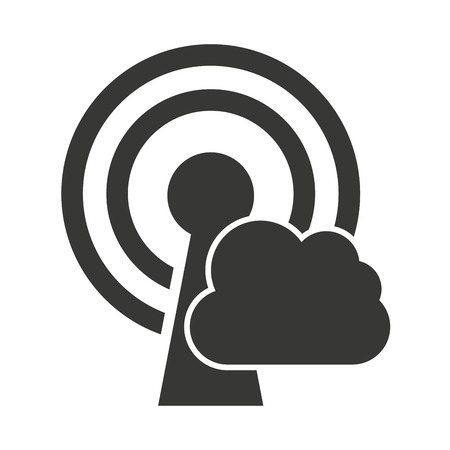 illustratio: wifi waves signal with icon vector illustratio