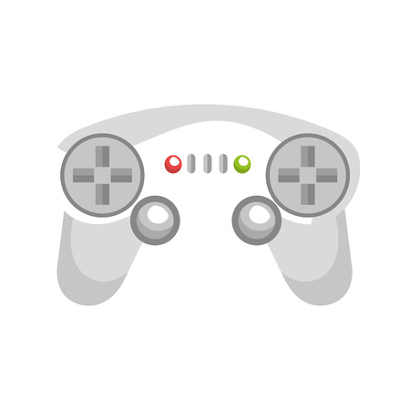 videogame: control player videogame with navigation buttons and joystick. vector illustration