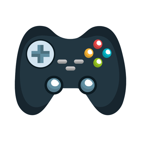 navigation buttons: control player videogame with navigation buttons and joystick. vector illustration