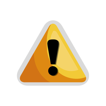 yellow attention: exclamation mark. attention sign on yellow triangle. vector illustration