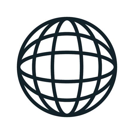 global sphere. network international connection. vector illustration Illustration