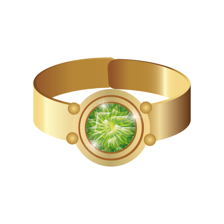 limpid: Jewelry Gold ring with precious gem. luxury and fashion accessory. vector illustration