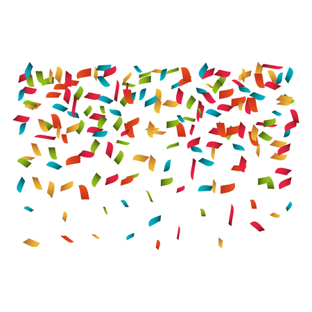 colorful confetti explosion party festival decoration. vector illustration
