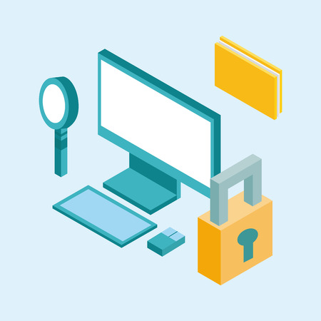 usefull for desktop isometric icon vector illustration design