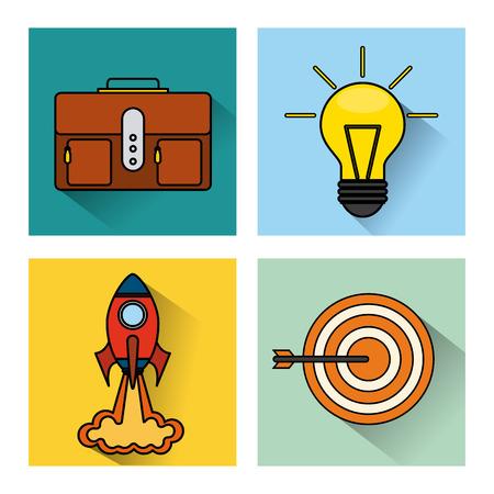 interface scheme: search engine optimization flat icons vector illustration design