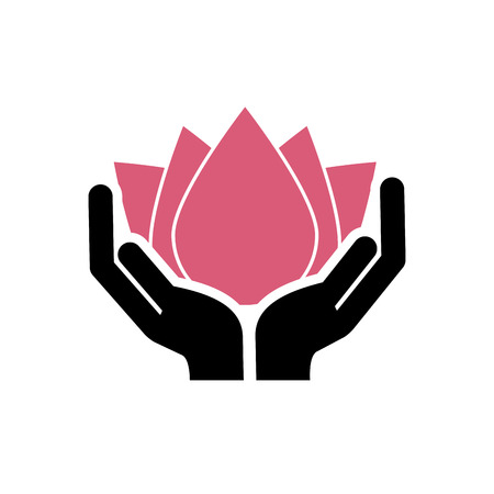 pampering: hand human with spa icon vector illustration design