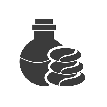 revitalize: spa relax service isolated icon vector illustration design