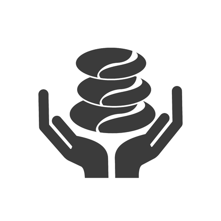 hand human with spa icon vector illustration design