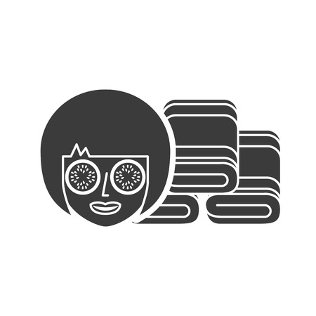 bliss: spa relax service isolated icon vector illustration design