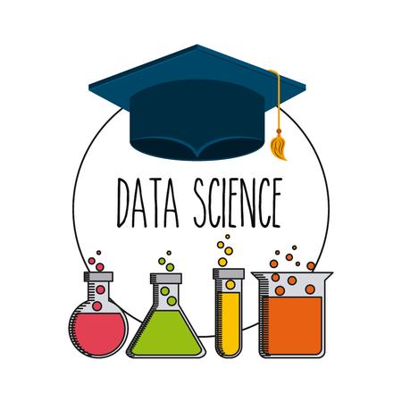 data science flat icons vector illustration design