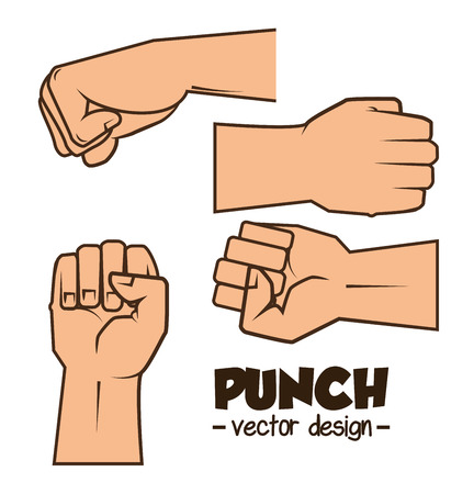 prevalence: boxing championship punch isolated vector illustration eps 10