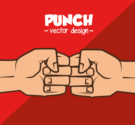 domination: boxing championship punch isolated vector illustration eps 10