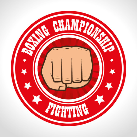punch: boxing championship punch isolated vector illustration eps 10