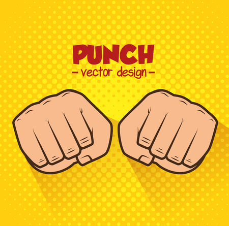 prevalence: boxing championship punch isolated vector illustration Illustration