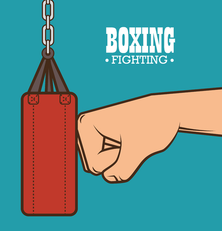 prevalence: boxing punching bag isolated vector illustration