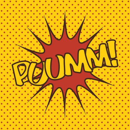 boxeo punzón arte pop ilustración vectorial eps 10