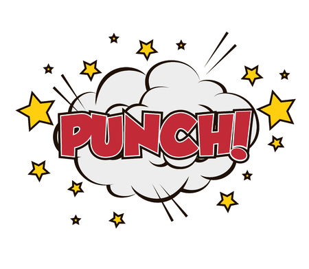 prevalence: boxing punch pop art isolated vector illustration eps 10