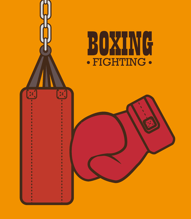 domination: boxing gloves punch isolated vector illustration eps 10