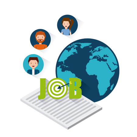 job opportunity: job opportunity flat icons vector illustration design