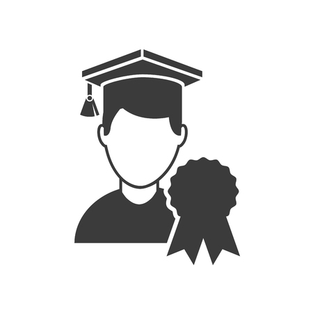 graduated: avatar graduated with education icon vector illustration design