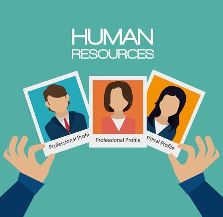 ressources humaines recrue embauché conception isolé illustration vectorielle eps 10