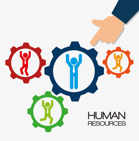 recruit: human resources recruit gear design isolated vector illustration eps 10