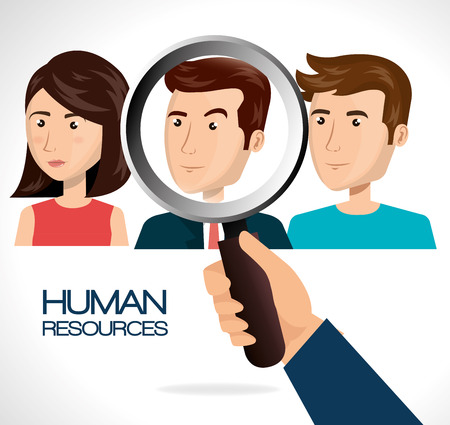 recruit: human resources recruit search design isolated vector illustration eps 10