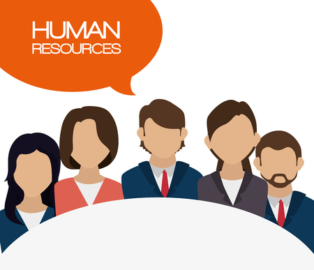 recruit: human resources recruit hired design isolated vector illustration eps 10 Illustration