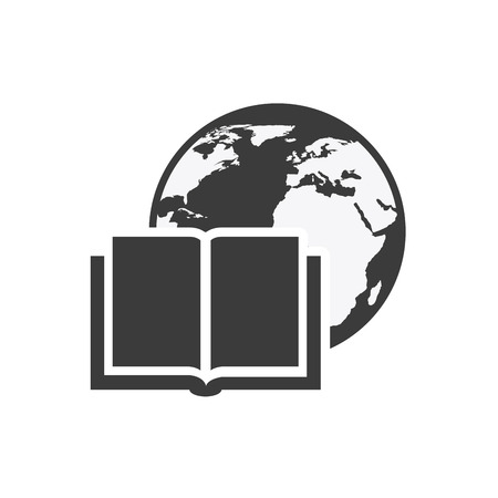 textbook: textbook with education icon vector illustration design