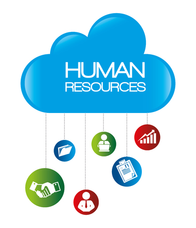 human resources recruit hired design isolated vector illustration eps 10 Illustration