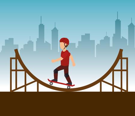 extreme sports: extreme sports skateboard design isolated vector illustration eps 10