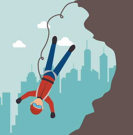 extreme sports climb design isolated vector illustration eps 10 Illustration