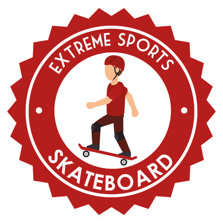 extreme sports skateboard design isolated vector illustration eps 10