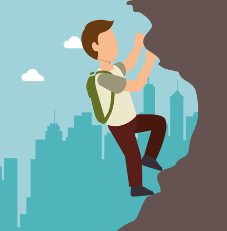 extreme sports: extreme sports climb design isolated vector illustration eps 10 Illustration