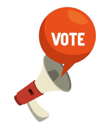 cartoon elections vote megaphone design vector illustration eps 10
