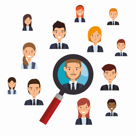 choosing: search human resources recruit design isolated vector illustration eps 10