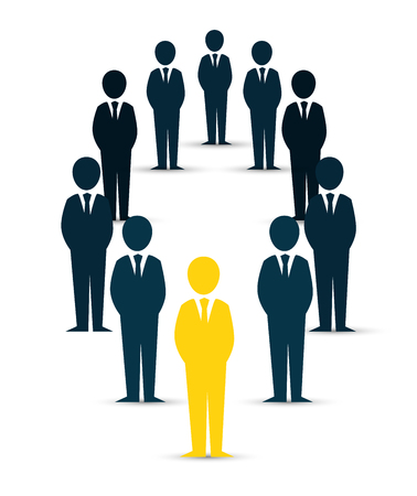 recruit: human resources recruit design isolated vector illustration eps 10