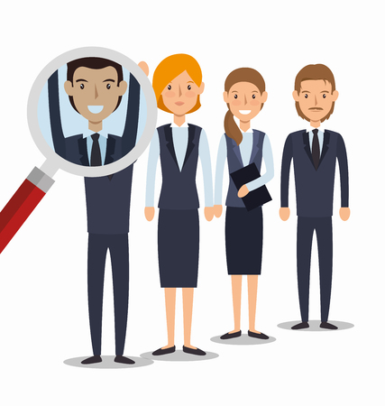 the applicant: search human resources recruit design isolated vector illustration eps 10