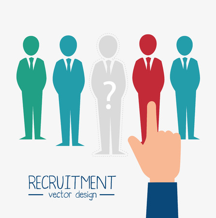 hand human resorces recruit desing isolated vector illustration eps 10