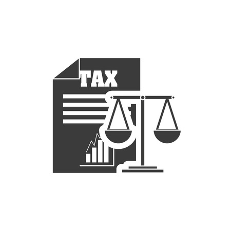 irs: tax document with finance icon vector illustration design
